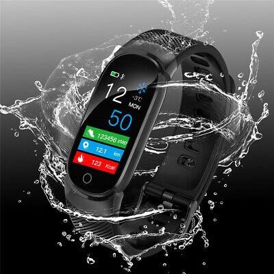 Waterproof Smart Bracelet IP67 Heart Rate Blood Pressure Fitness Tracker Watch 10