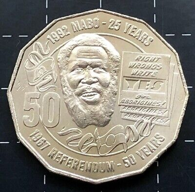 2017 Australian 50 Cent Coin - 1992 Mabo 25 Years - 1967 Referendum 50 Years 3