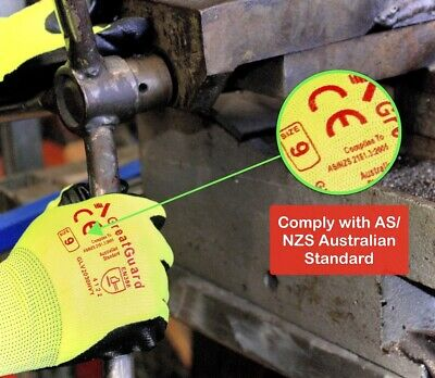 Work Gloves Foam Nitrile Coated Safety General Purpose Garden 12 Pairs 6