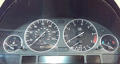 BMW Satin Silver Dash Trim Rings Speedometer Gauge Cluster Panel E38 E39 E53 X5