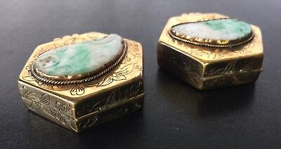 Two Chinese Pill Boxes with Jadeite 3
