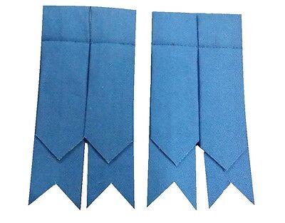 New Men's Kilt Sock Flashe Air Force Blue Tartan/Scottish Kilt Hose Flashes Blue
