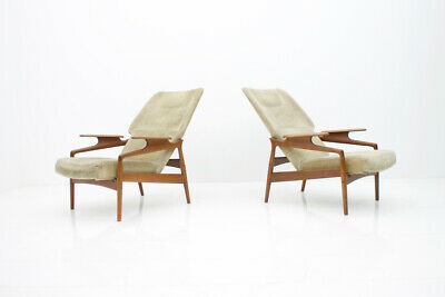 Pair(2) of Teak Lounge Chairs by John Bone Denmark 60s 60er Chair Denmark 3