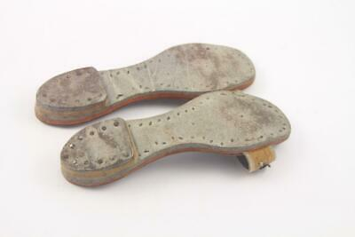 Antique Child's Indian Middle Eastern Hand Tooled Leather & Beaded Shoes Sandals 8