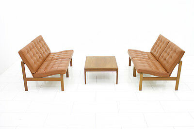 Modular Leather Lounge Chairs from Torben Lind & Gjerløv France & Son Sofa Table 5