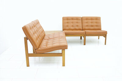 Modular Leather Lounge Chairs from Torben Lind & Gjerløv France & Son Sofa Table 7