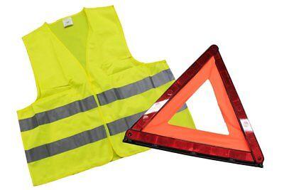Set Sécurité Routier Urgence Sos Triangle + Gilet Blouson Réflecteur 2