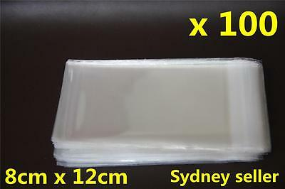 100x Self Adhesive Self Seal Resealable Clear Plastic Cellophane Bags 8x12cm New 2