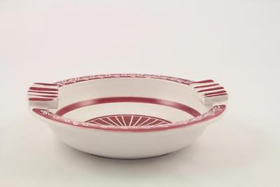 Vintage Mid Century Modern Elle Norway Hand Painted Ceramic Ashtray 2