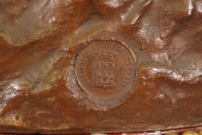 Péndulo Bronce Napoleón III Firmada Mathurin Moreau Paloma 9