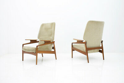 Pair(2) of Teak Lounge Chairs by John Bone Denmark 60s 60er Chair Denmark 4