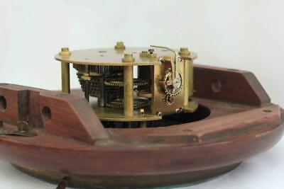 "Rare Miniature Antique English Mahogany 8 Day 7"" Fusee Dial Clock Webb Sandgate 11"