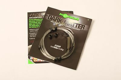 Korda NEW Safe Zone Dark Matter Helicopter Heli Chod Leader 1m *All Colours*