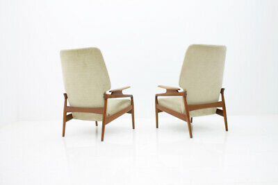 Pair(2) of Teak Lounge Chairs by John Bone Denmark 60s 60er Chair Denmark 5