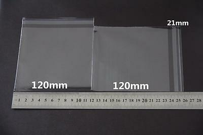 100x Self Adhesive Self Seal Resealable Clear Plastic Cellophane Bags 12x12cm 2