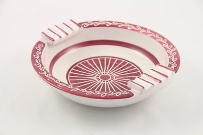 Vintage Mid Century Modern Elle Norway Hand Painted Ceramic Ashtray 4
