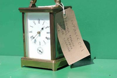 Vintage French 8 Day Grande Striking Alarm Carriage Clock 9