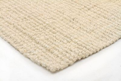 Hallway Runner Hall Runner Rug Large Hand Loomed Flat Weave Jute Bleached 2 Size