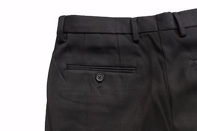 c6131d23cc ... New TM Exposure Mens Black Formal Slim Fit Flat Front Slacks Trouser Dress  Pants 4