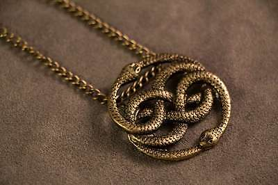 Auryn necklace pendant gold inspired by the neverending story 1 of 2 auryn necklace pendant gold inspired by the neverending story mozeypictures Choice Image