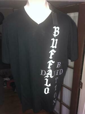 Nwt Buffalo David Bitton S/S Black V-Neck T-Shirt Sz:3Xl 3X Xxxl 2