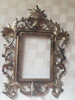 Pair of Old Ornate Cast Iron Picture Frames 4