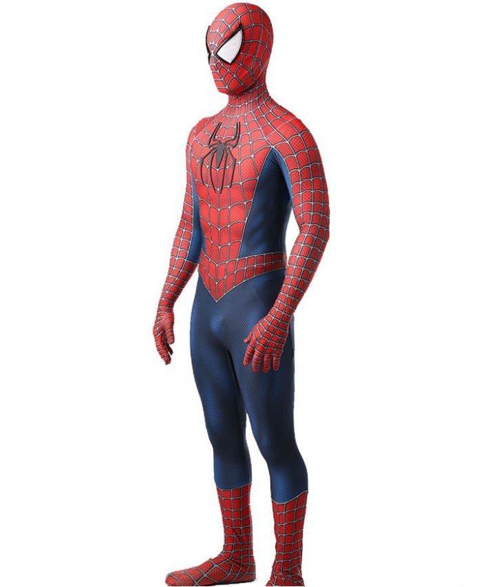 New Toby Amazing Spiderman Adult Costume 3D Spandex Zentai Suit Tight for Coser