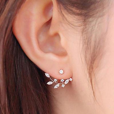 1 Pair Femmes Élégant Cristal Faux-diamants Perle Oreille Clous Bijoux 2
