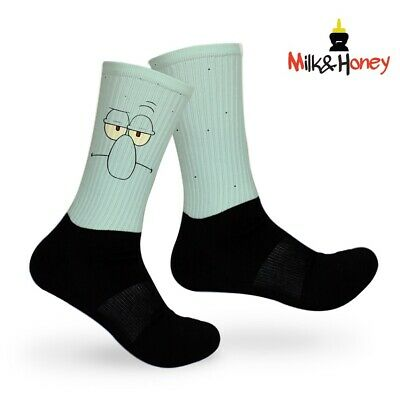 Kyrie SpongeBob Squidward Customized Socks 2