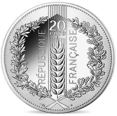 FRANCE 20 Euro Argent Chêne 2020 2