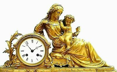 Fabulous 19th Century Ormolu Gilt Bronze Dent Mantel clock 2