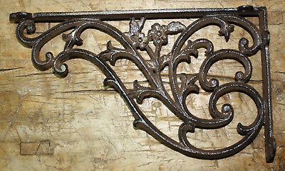 4 Cast Iron Antique Style HUGE DAISY VINE Brackets Garden Braces Shelf Bracket