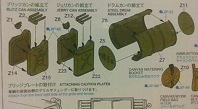 Tanks, Barrels, Bags 1:35 Plastic Model Kit Allied Vehicles Accessory Set