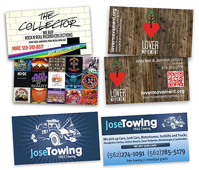 1000 Full Color Business Cards Both Sides Print Only Free Shipping