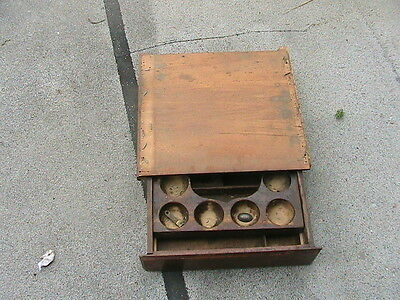 Vintage Wood Cash Drawer W Finger Release Lock Bell Under Counter Sugar Valley