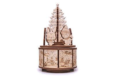 Wood Trick Holz Modellbau Christmas Dance Weihnachten Spieluhr mit Musik