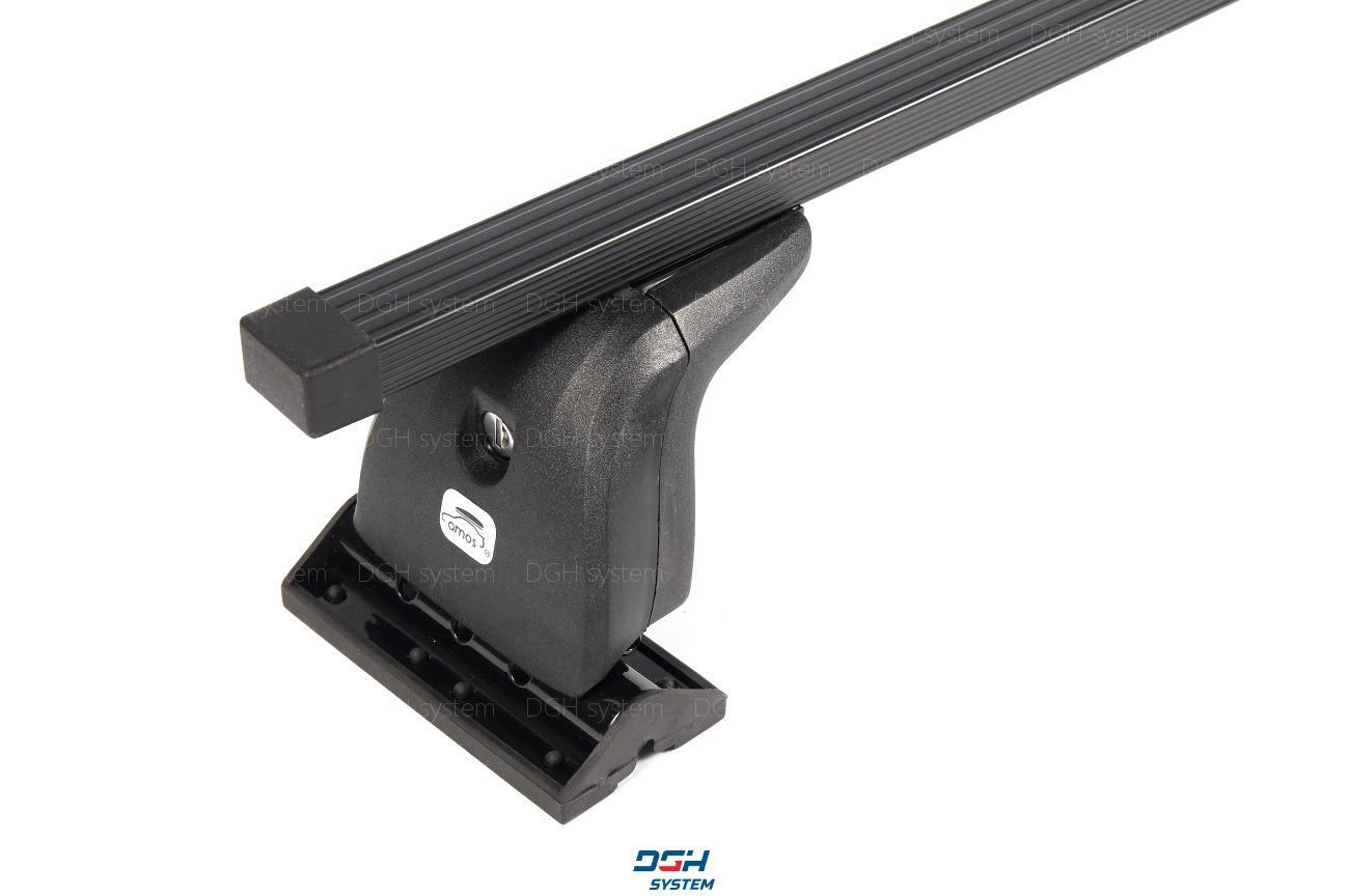 Dachträger Für Peugeot 607 00-10 mit Fixpunkten Stahl Schwarz 130cm