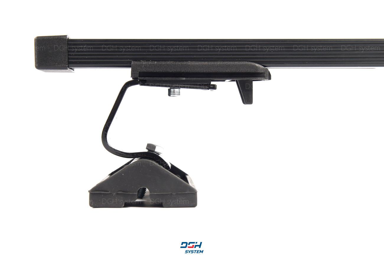 MENABO Dachträger Tema Stahl schwarz Grundträger Querträger Für BMW X1 10.2015
