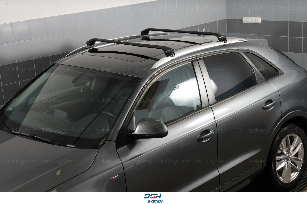 Für Fiat Tipo Kombi 16 mit geschlossener Dachreling Dachträger Alu silber