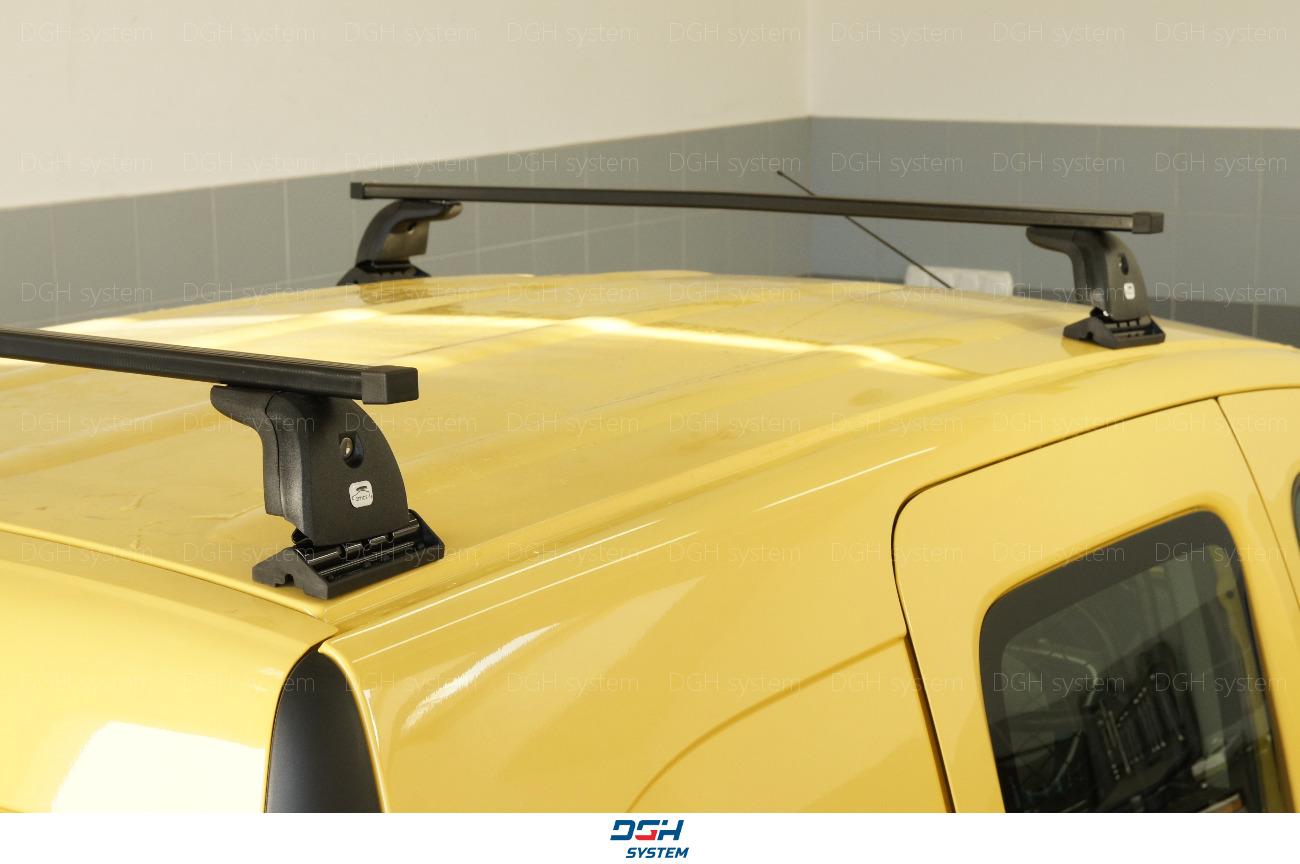 Dachträger Für Ford Transit Custom 14 mit Fixpunkten Stahl Schwarz 140cm