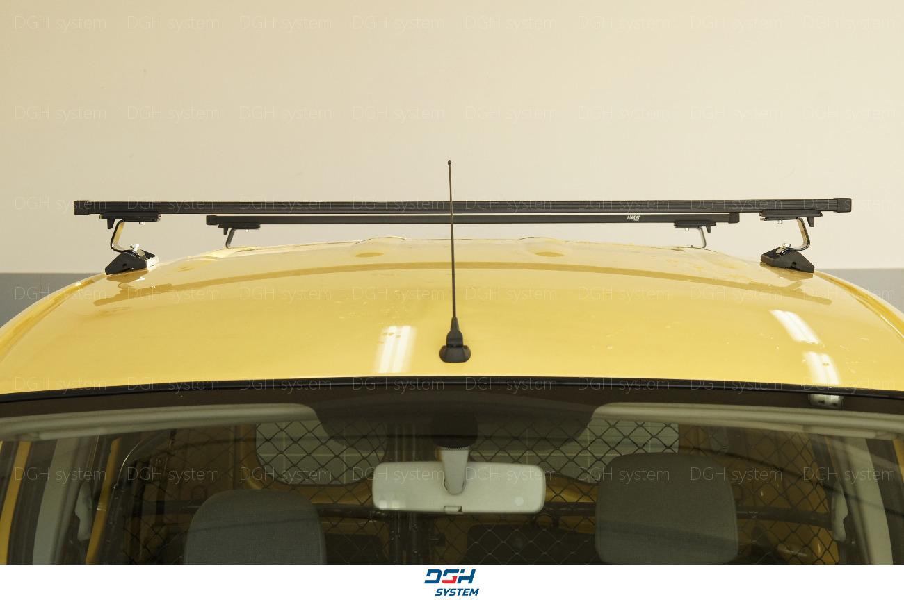 Dachträger Für Fiat Doblo Maxi 08-09 mit Fixpunkten Aluminium Silbern 140cm
