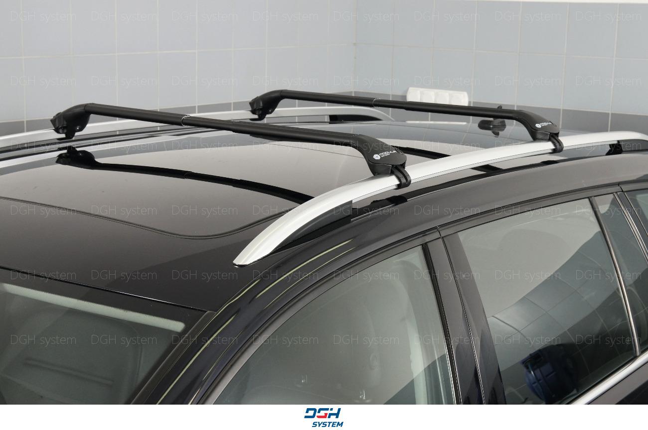 Dachträger schwarz ALU Reling für Mercedes ML W164 05-11 mit offener Dachreling
