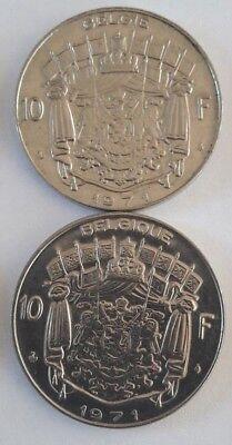 10 Francs, 10 Frank 1969 -1979 Belgique Belgïe Belgium Baudouin FR NL 3