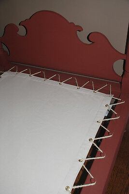 Custom Made Canvas Sacking Bottom for Rope or Peg Bed - Rope Bed Restoration 4
