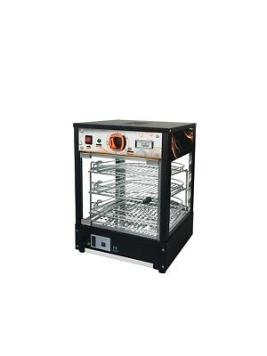 New Curved Glass Commercial Hot Food Pie Pizza Warmer Display Cabinet countertop 2