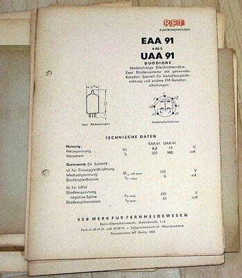 VEB Funkwerk Erfurt Katalog Empfängerröhren Röhren DDR 1956