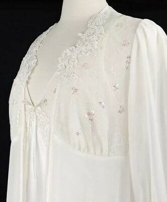 purchase authentic fair price new collection VTG CALIFORNIA DYNASTY Peignoir Set Negligee Night Gown Robe Satin Sheer  Sequins