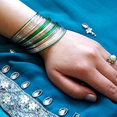 50tlg Indische Armreifen Set Ø6,5cm Schmuck Bollywood Bauchtanz Belly Dance