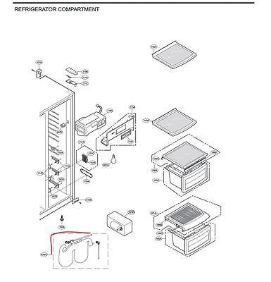 AJL72910401:GENUINE  LG Refrigerator Water Storage Tank (RFLG949) 2