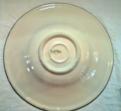 """Antica Fornace Ceramiche Handpainted Serving Platter Yellow Black Olives 17.75"""" 4"""